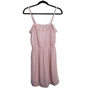 UO Kimchi Blue Blush Lace Spaghetti Strap Dress